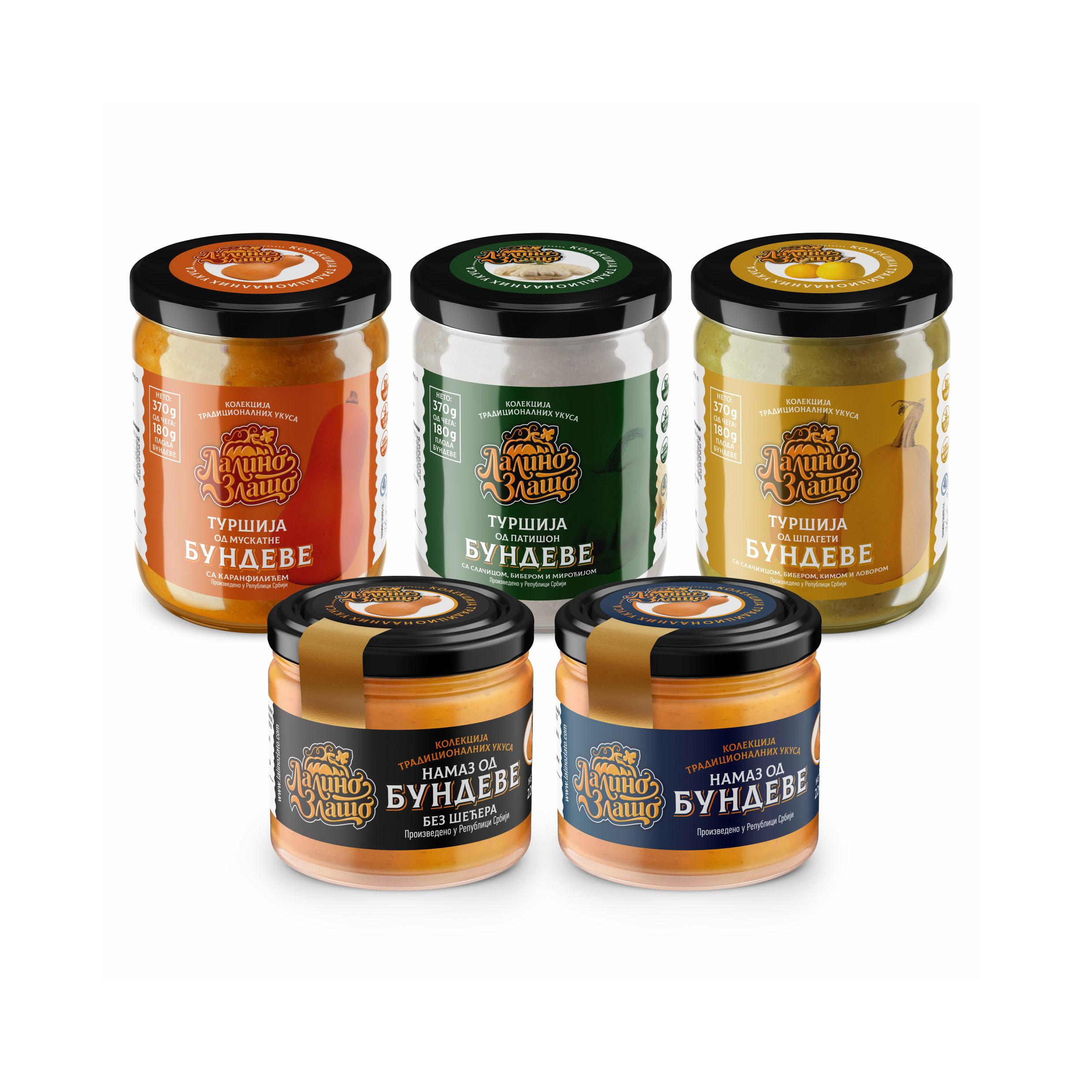 Lalino zlato packaging design