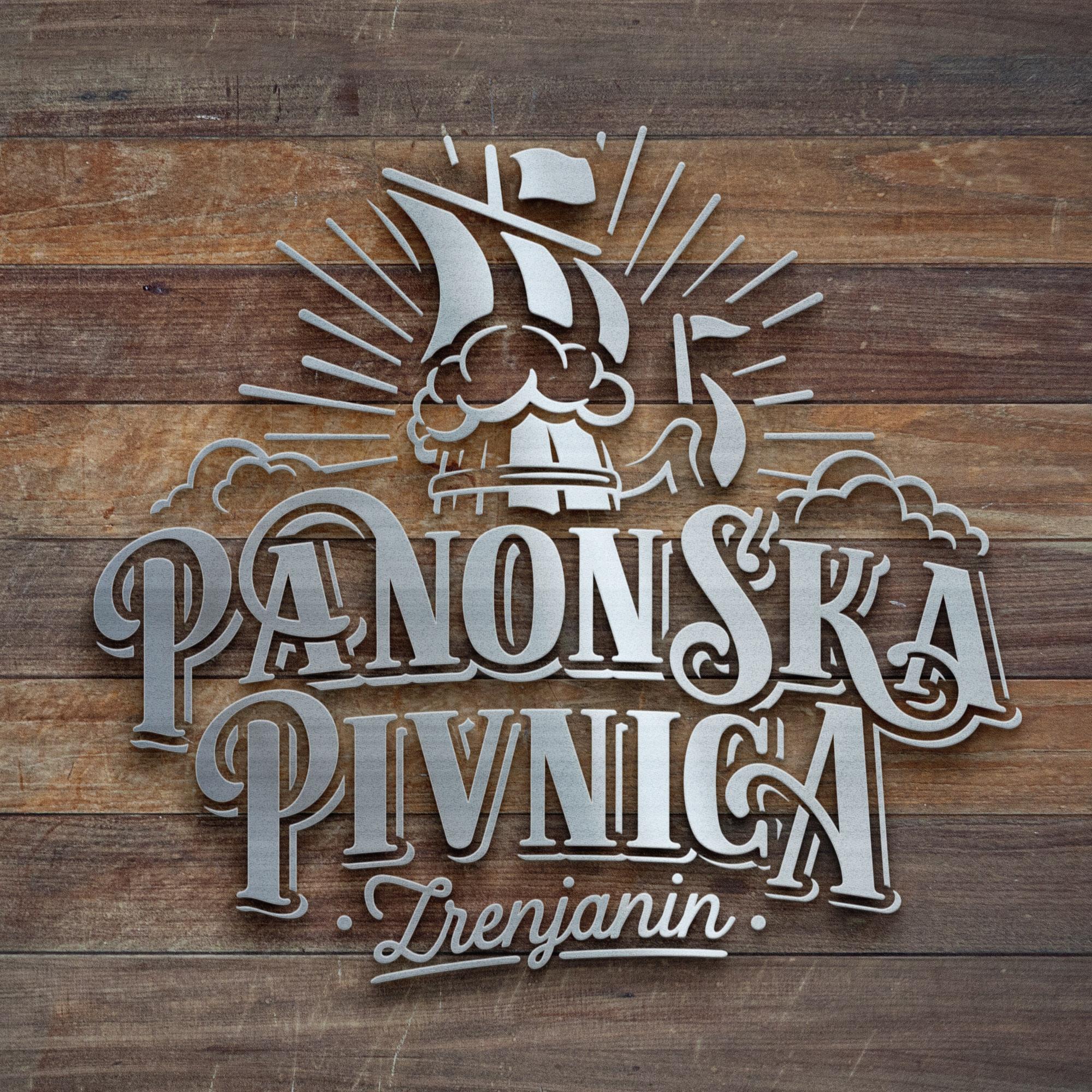 Panonska pivnica logo design