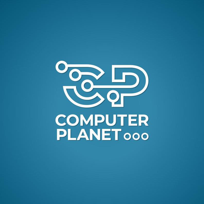 Computer planet logo design